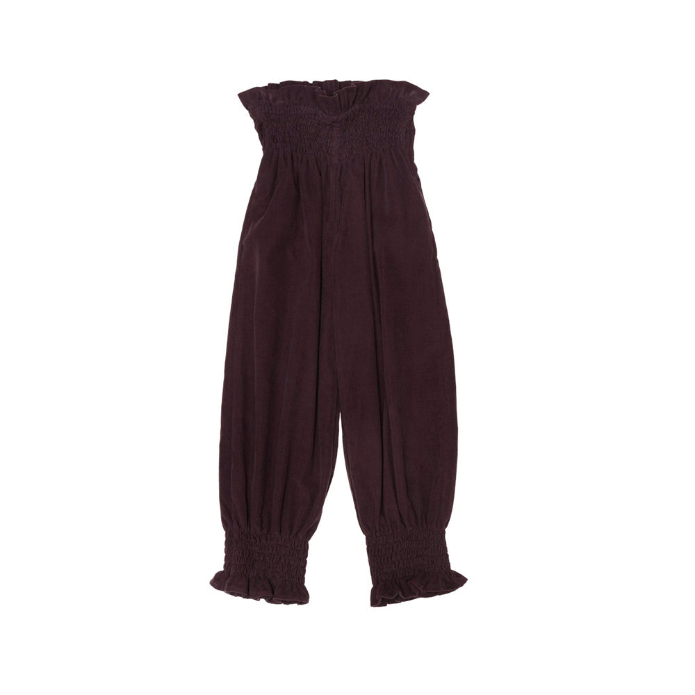 The New Society Bambi Kid's Cotton Smocked Pants Burgundy | BIEN BIEN www.bienbienshop.com
