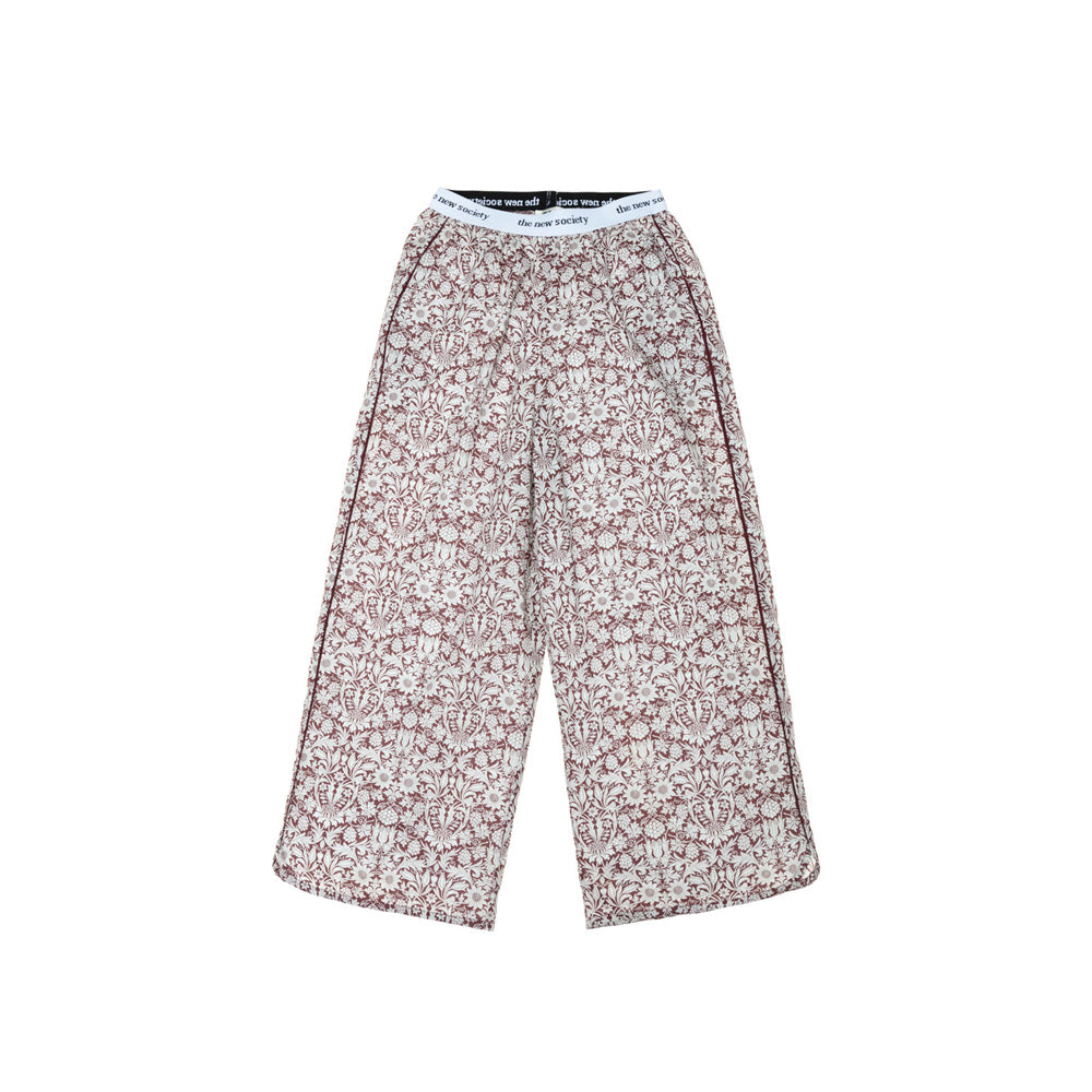 The New Society Eduard Kid's Cotton Wide Leg Pajama Pants Plum Liberty | BIEN BIEN www.bienbienshop.com