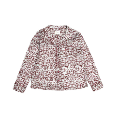 The New Society Enzo Kid's Pajama Shirt Plum Liberty| BIEN BIEN www.bienbienshop.com