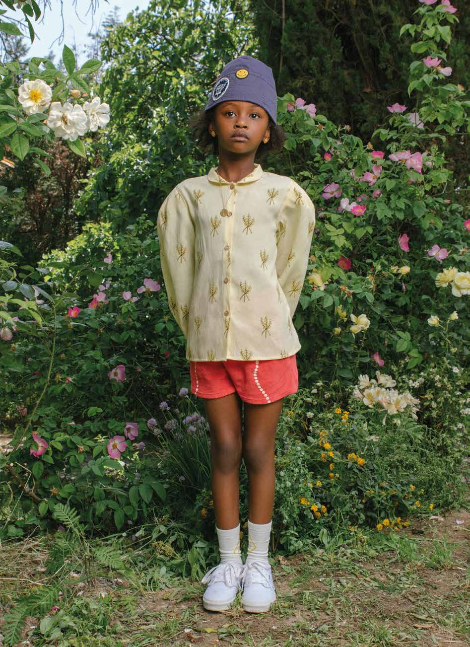 The Animals Observatory Gadfly Kid's Blouse Yellow Wheat | BIEN BIEN | www.bienbienshop.com