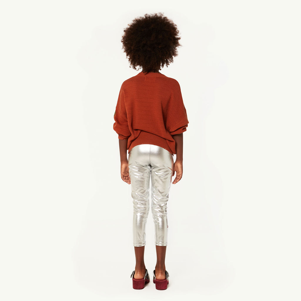 The Animals Observatory Alligator Kid's Leggings Silver | BIEN BIEN | www.bienbienshop.com