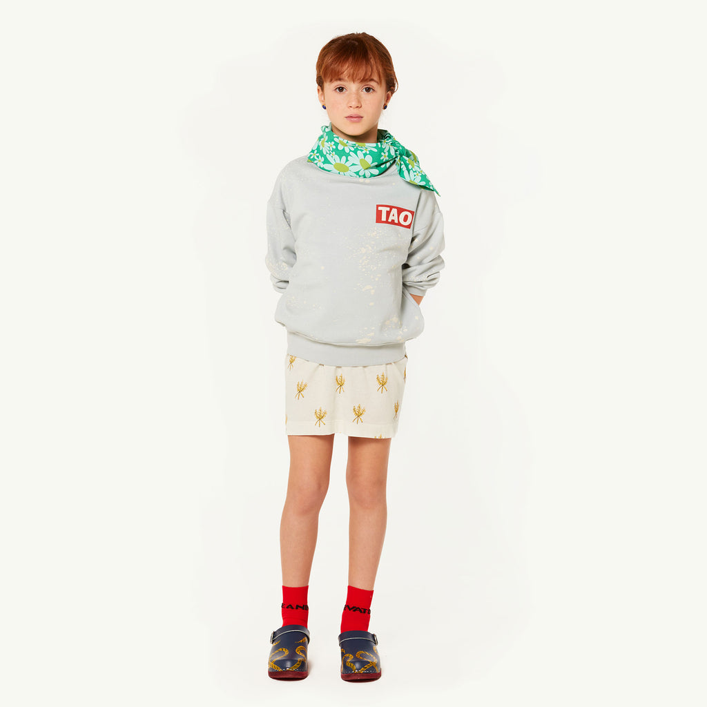 The Animals Observatory Bear Kid's Sweatshirt Blue Splashes | BIEN BIEN | www.bienbienshop.com
