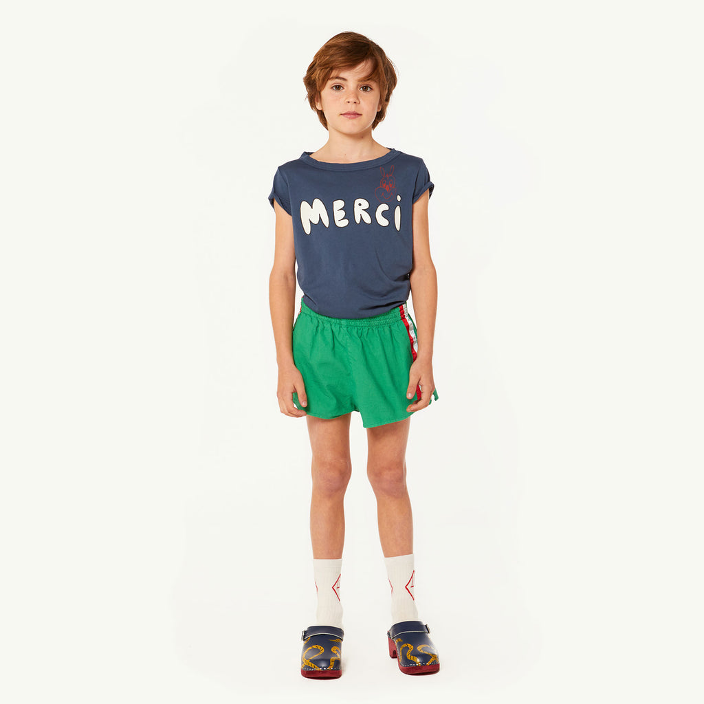 The Animals Observatory Hippo Kid's Tee Navy Blue Merci | BIEN BIEN | www.bienbienshop.com