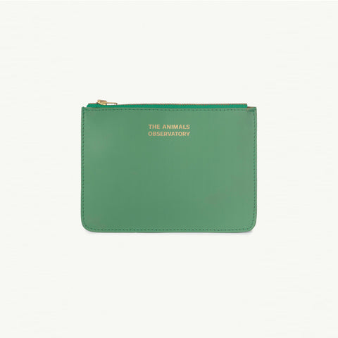 The Animals Observatory Kid's Leather Purse Green/Gold - NEW - BIEN BIEN bienbienshop.com