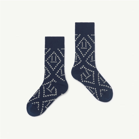 The Animals Observatory Skunk Kid Socks Navy Blue/White NEW - BIEN BIEN bienbienshop.com