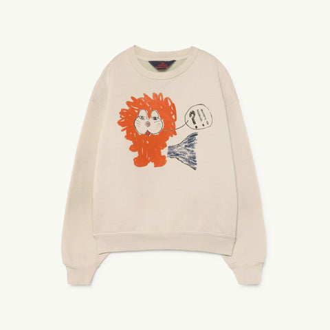 The Animals Observatory Bear Kid Sweatshirt White Lion NEW - BIEN BIEN bienbienshop.com