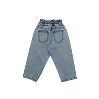 The New Society Lola Kid's Paper Bag Denim Pant Faded | BIEN BIEN