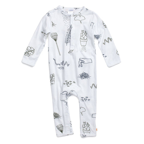 Tiny Cottons Garden Story Long Sleeve Baby One-Piece