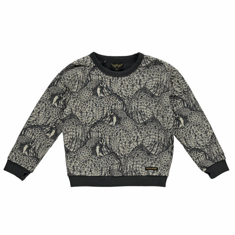 Finger in the Nose Turner Falcon Sweatshirt in Ash Black Falcon | BIEN BIEN