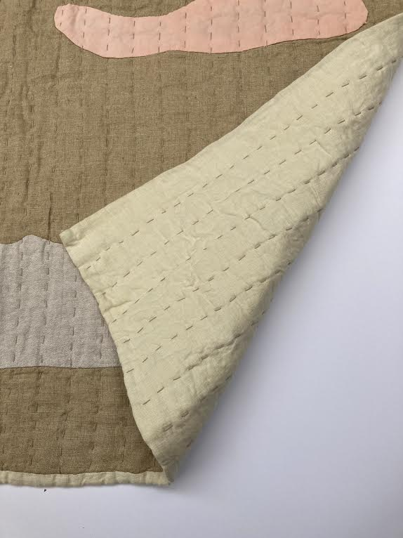 Vanessa Chow Magic Half Hour with Pink Clouds Quilt Dune/Sand | BIEN BIEN