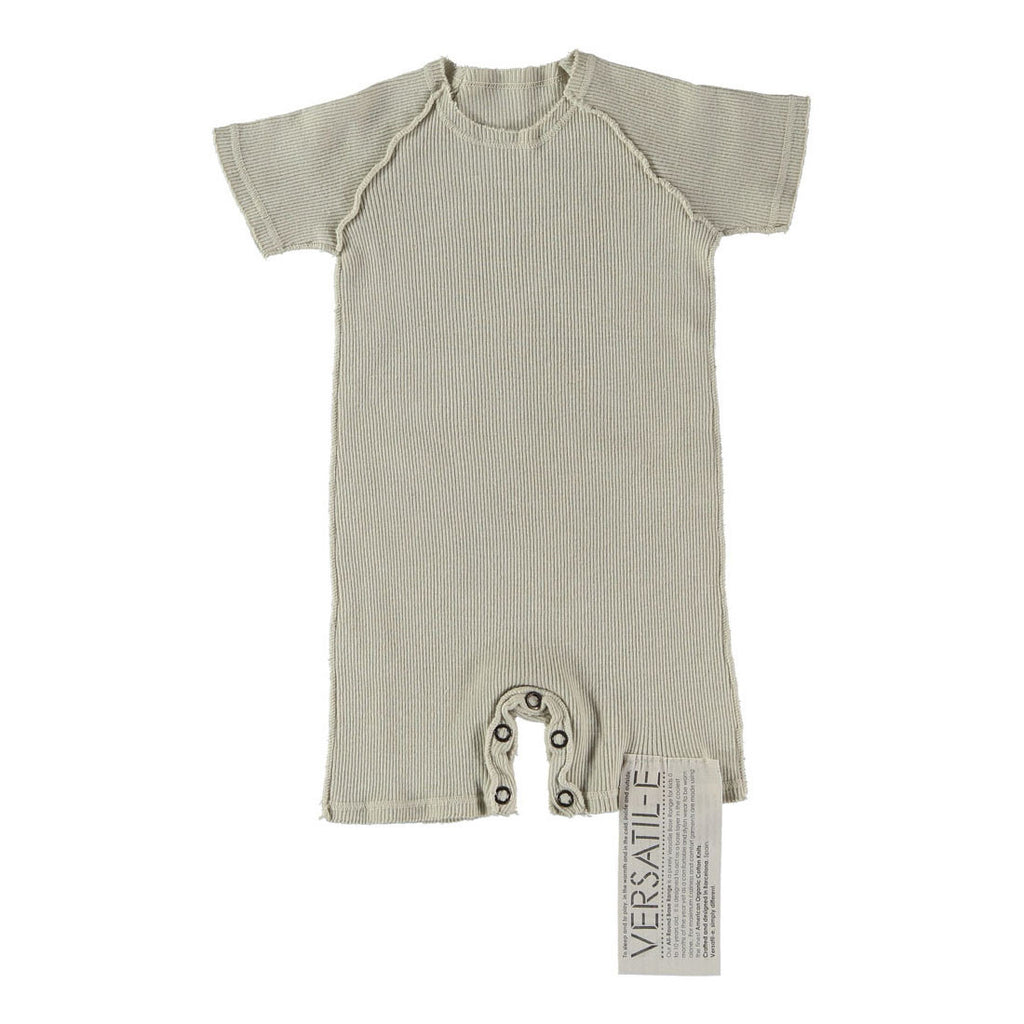 Versatil-e Organic Short Sleeve Double Knit Baby Onesie in Grey | BIEN BIEN