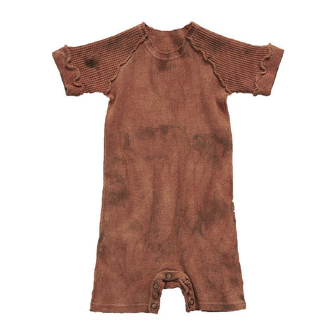 Versatil-e Organic Short Sleeve Double Knit Baby Onesie in Canyon | BIEN BIEN