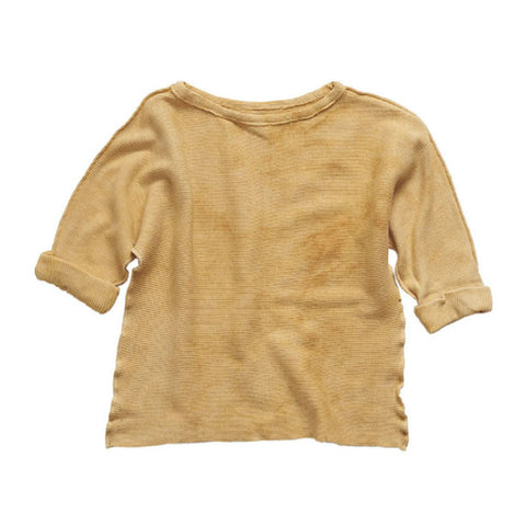 Versatil-e Organic Long Sleeve Japan T-Shirt in Desert | BIEN BIEN