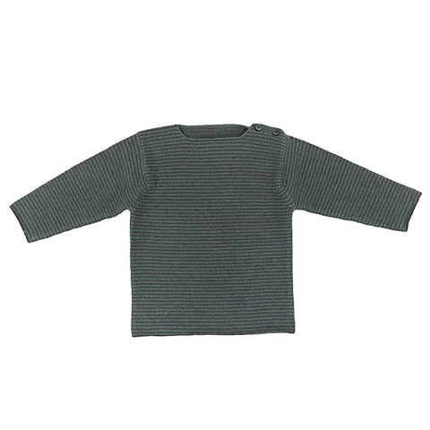 Ketiketa Striped Baby Sweater in Tibetan Turquoise | BIEN BIEN