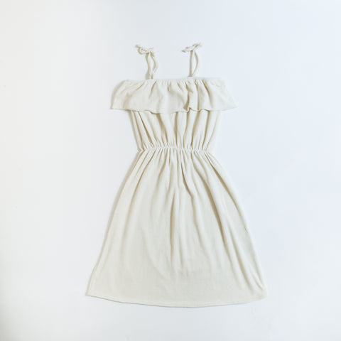 We Are Kids Raphaelle Baby/Kid's Sundress Milk White Terry | BIEN BIEN www.bienbienshop.com