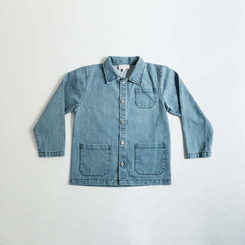 We Are Kids Hadrien Baby & Kid's Work Jacket Light Denim | BIEN BIEN www.bienbienshop.com