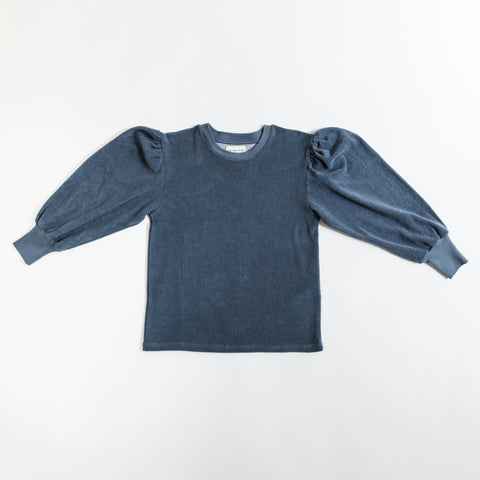 We Are Kids Lili Kid's Sweatshirt Indigo Blue Terry | BIEN BIEN www.bienbienshop.com