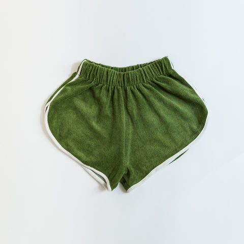 We Are Kids Juju Kid's Shorts Cactus Green Terry | BIEN BIEN www.bienbienshop.com
