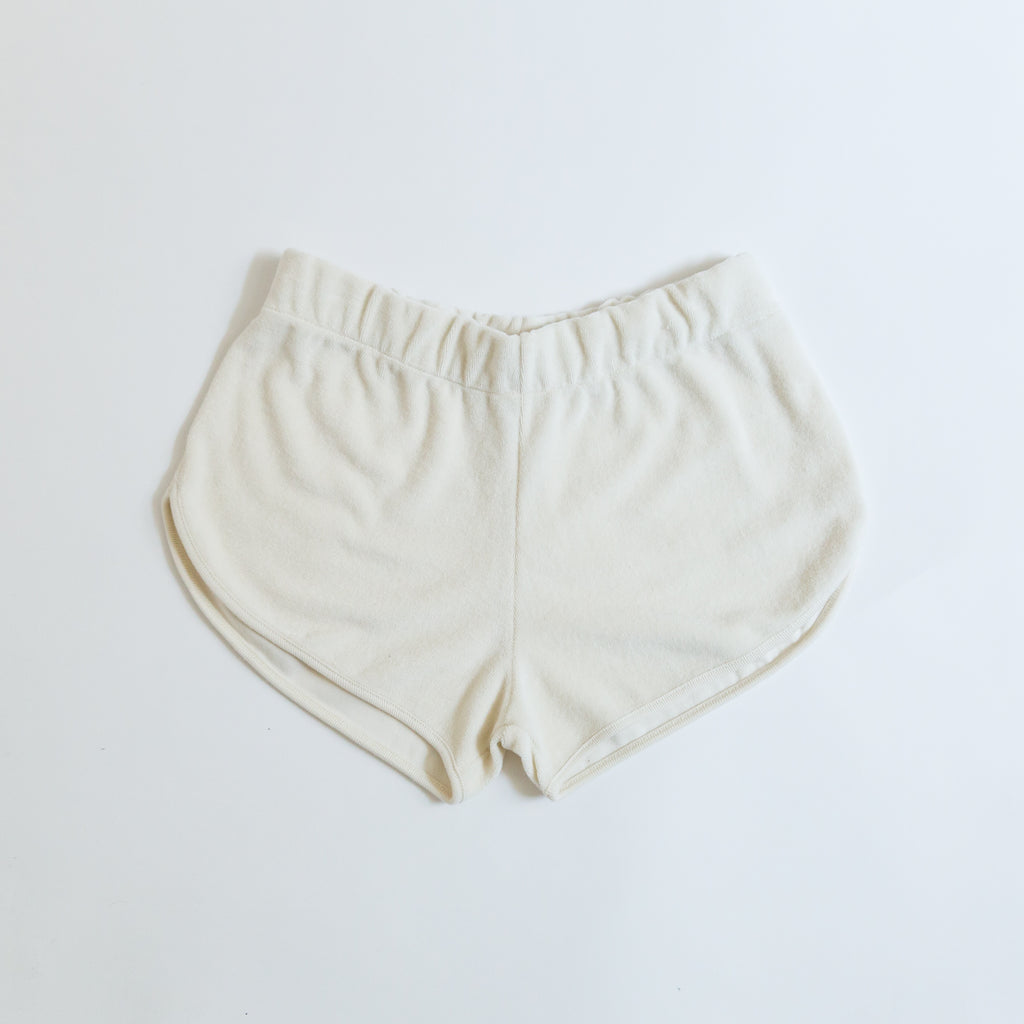We Are Kids Juju Kid's Shorts Milk White Terry | BIEN BIEN www.bienbienshop.com