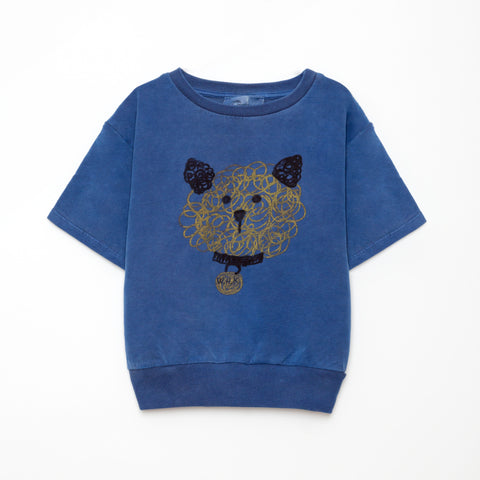 New Weekend House Kids Dog Short Sleeve Sweatshirt Blue | BIEN BIEN