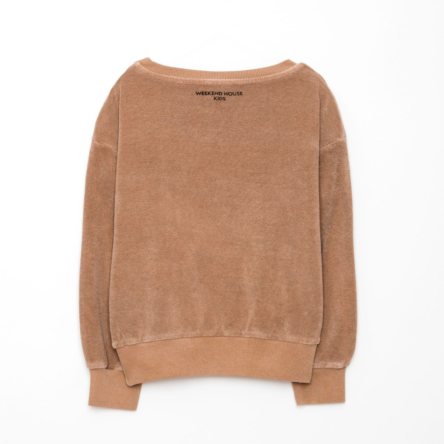 New Weekend House Kids Terry Mr. Flamingo Sweatshirt Camel | BIEN BIEN bienbienshop.com