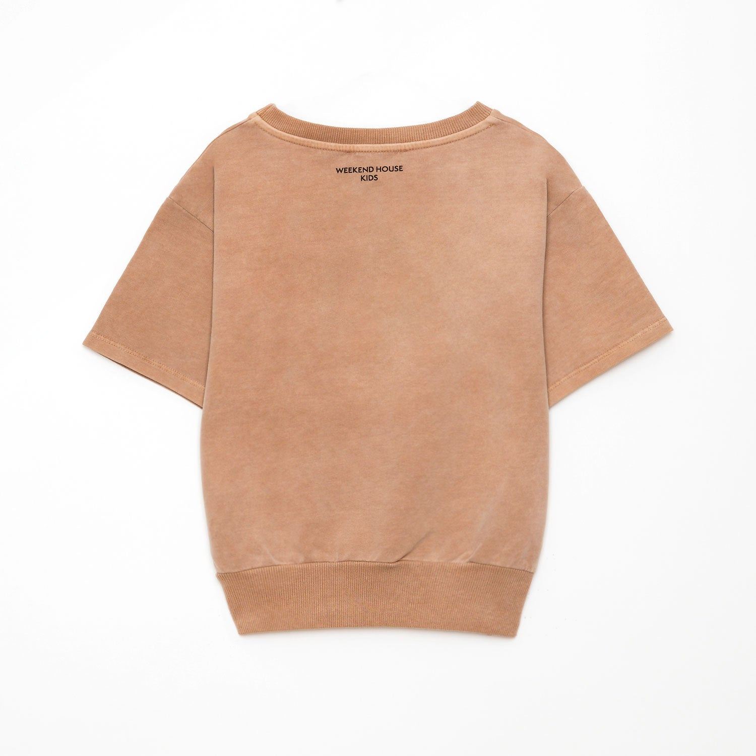 New Weekend House Kids Short Sleeve Tree Sweatshirt Camel | BIEN BIEN bienbienshop.com