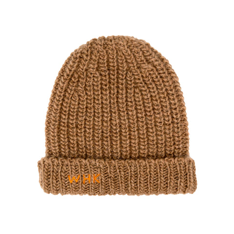 Weekend House Kids Knit Wool Alpaca Kid's Beanie Camel NEW | BIEN BIEN