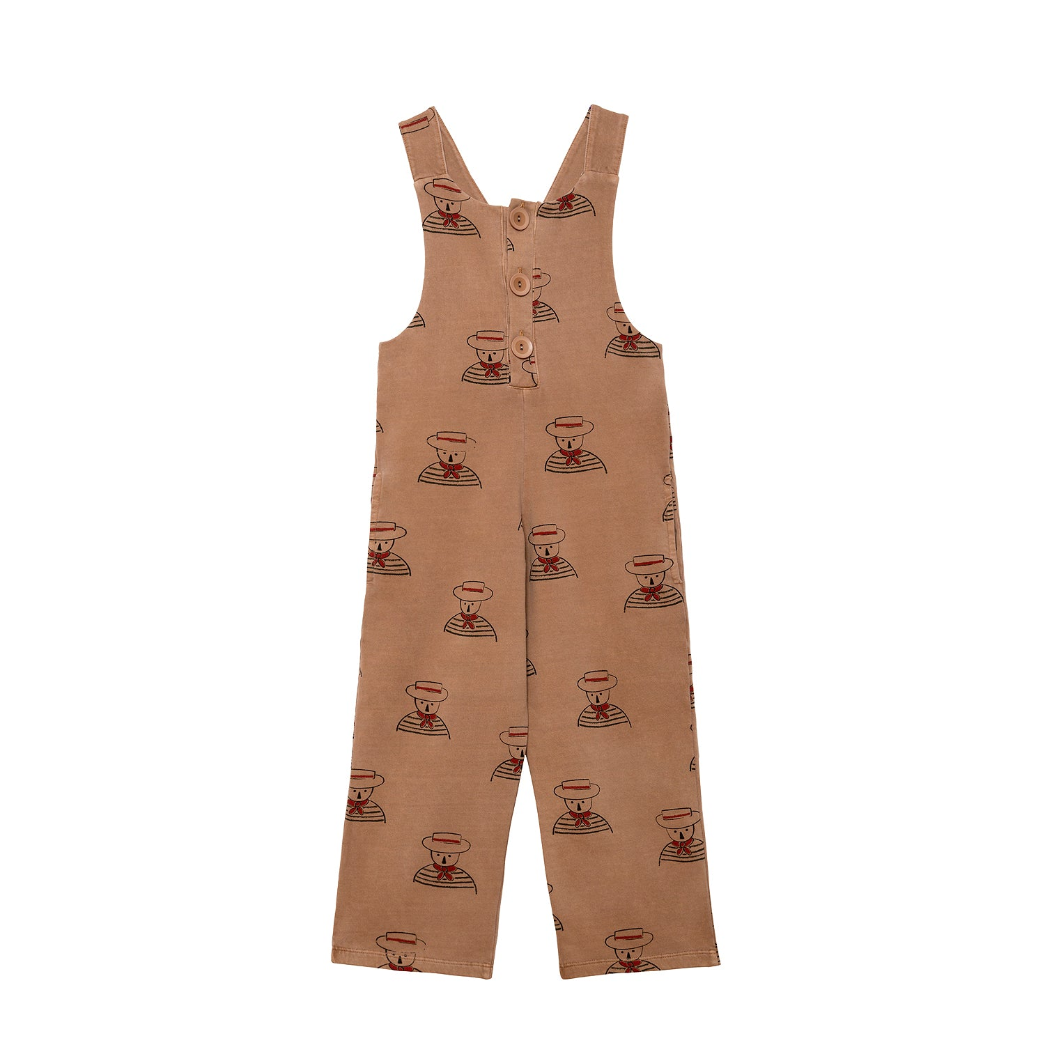 NEW Weekend House Kids Peggy Kid's Overalls Organic Camel | BIEN BIEN bienbienshop.com