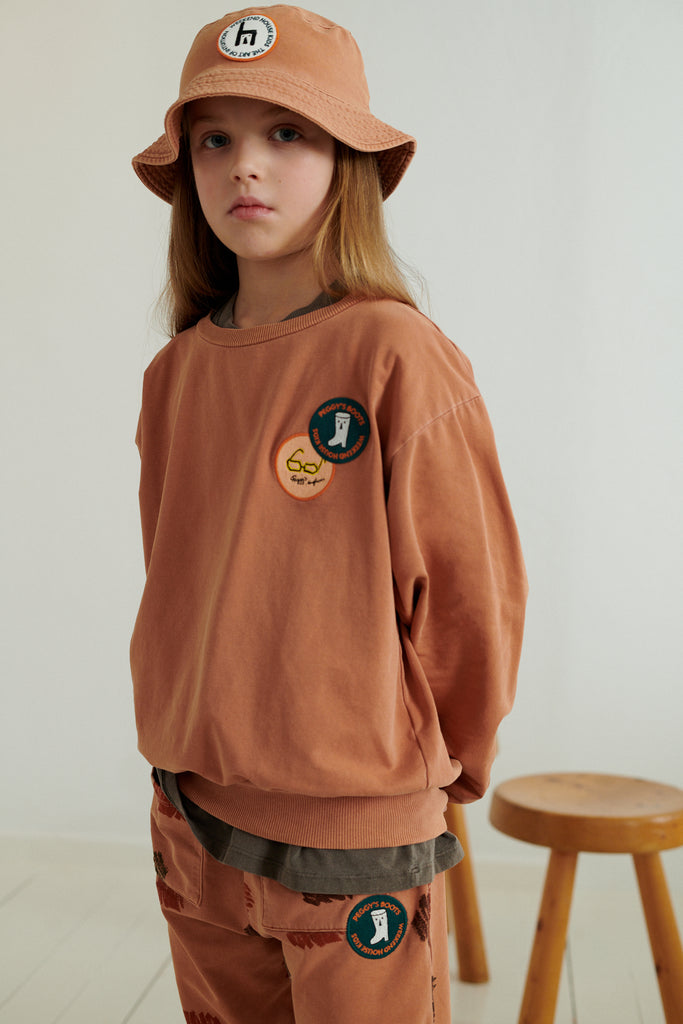 NEW Weekend House Kids Peggy Kid's Sweatshirt Brick Organic Cotton | BIEN BIEN bienbienshop.com