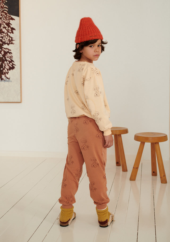 NEW Weekend House Kids Peggy Kid's Sweatshirt Peach Organic Cotton | BIEN BIEN bienbienshop.com