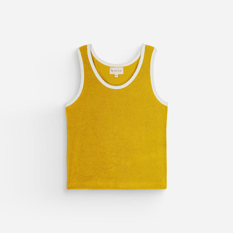 NEW We Are Kids Marcel Kid's Terry Tank Top Happy Curry | BIEN BIEN