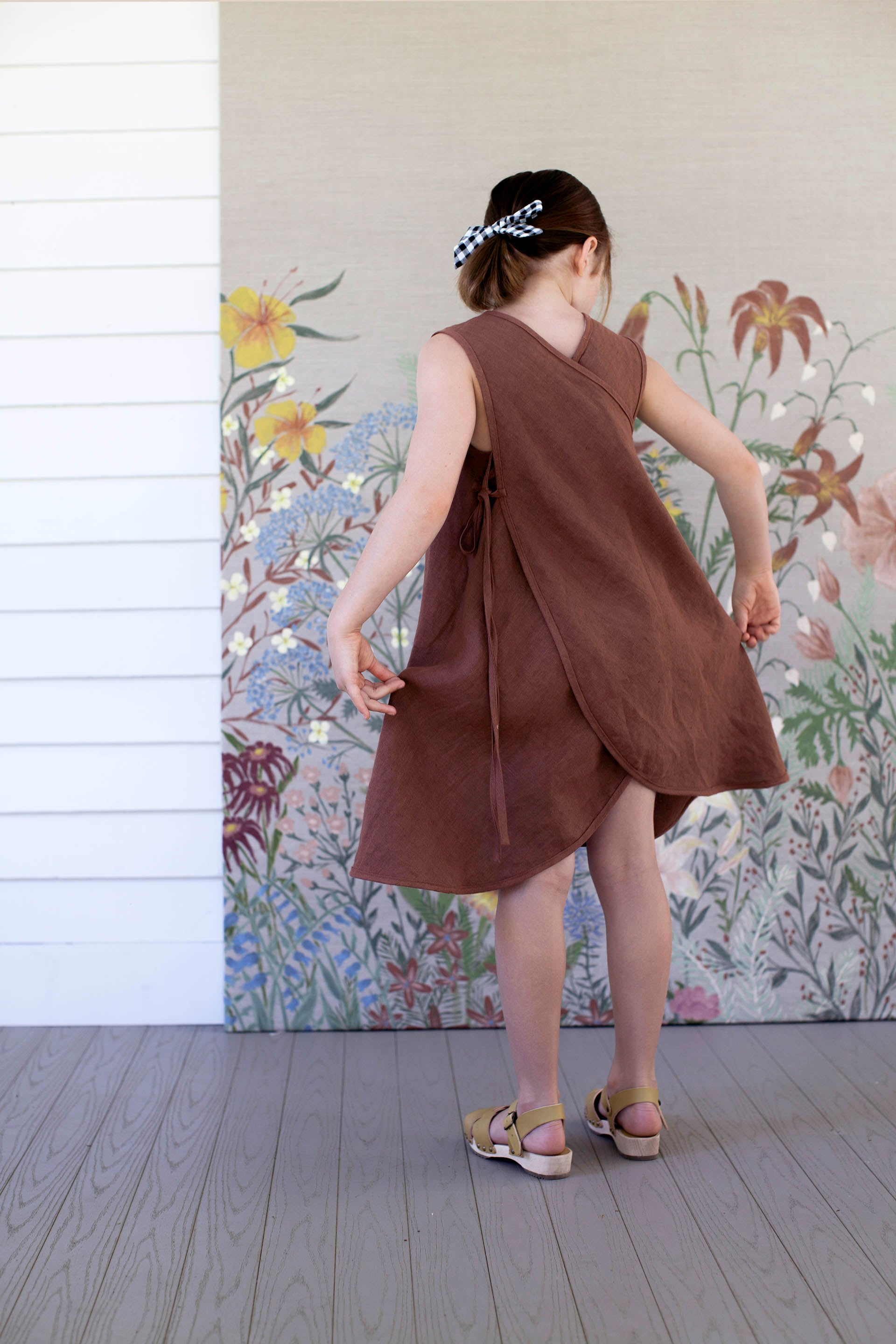 Soor Ploom Willow Baby & Girl's Linen Dress in Terracotta | BIEN BIEN