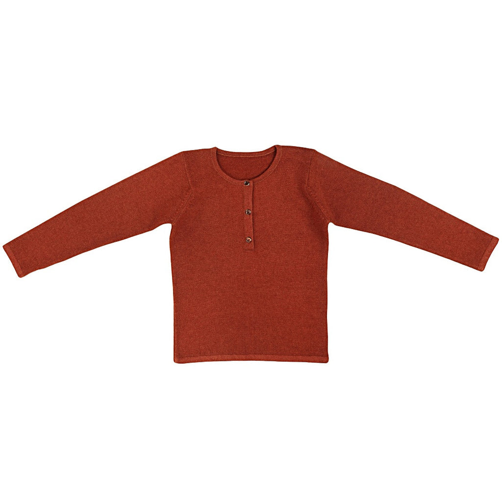 Ketiketa Tunisian Kids Sweater in Burnt Orange | BIEN BIEN