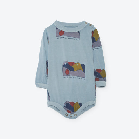 The Animals Observatory Wasp Baby Body in Soft Blue Allover Landscape | BIEN BIEN