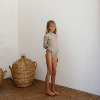 Yoli & Otis Josue Kid's One-Piece Swimsuit Mosaic Tan Greige | BIEN BIEN bienbienshop.com