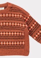 Caramel Chinchilla Baby Merino Jumper in Rust Fairisle | BIEN BIEN