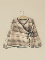 Boy+Girl Kimono Kid's Jacket Brown Stripe | BIEN BIEN