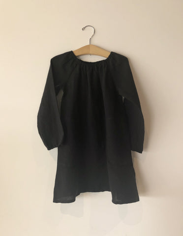 Boy+Girl Peasant Girl's Dress Black Hatch
