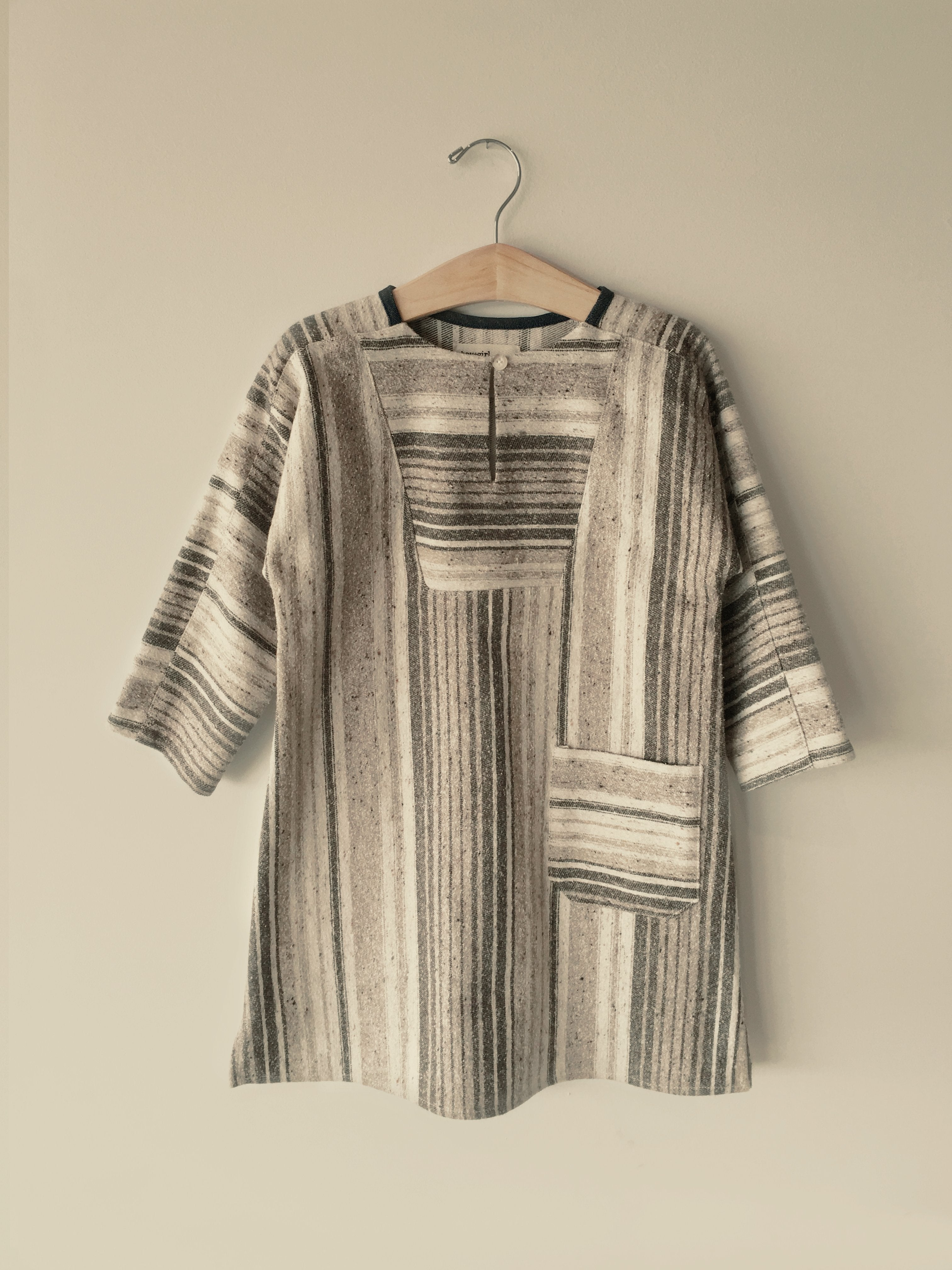 Boy+Girl Vickie Girl's Tunic Brown Stripe