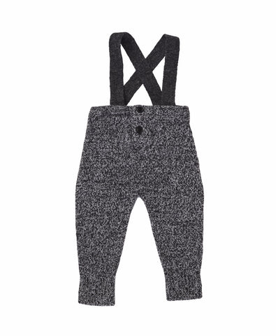 Caramel London Grittstone Baby Romper in Black Melange