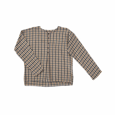 Caramel London Grossular Shirt in Ginger Check