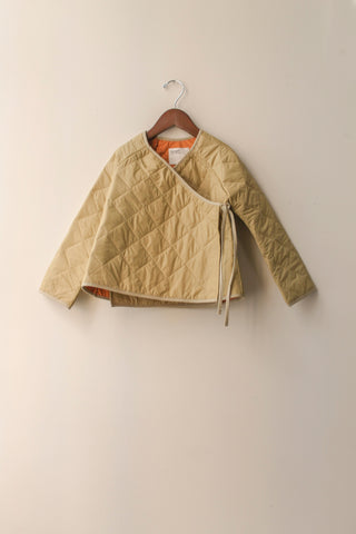 boy+girl Kimono Kid's Jacket in Khaki Puff | BIEN BIEN