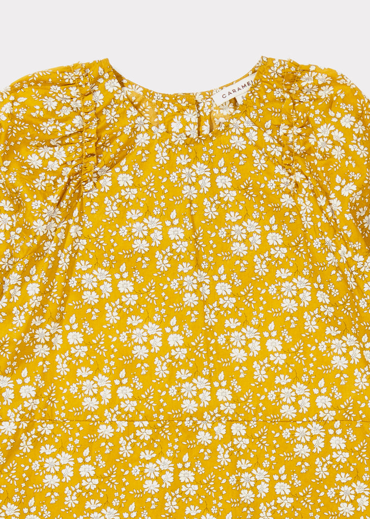 Caramel Mouse Kid's Blouse Liberty of London Capel Mustard | BIEN BIEN