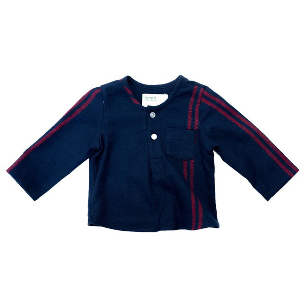 boy+girl Nico Baby Boy Kurta in Navy/Red | BIEN BIEN
