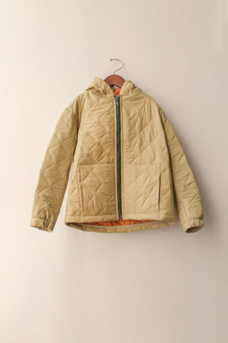 boy+girl Oak Kid's Hooded Jacket in Khaki Puff | BIEN BIEN