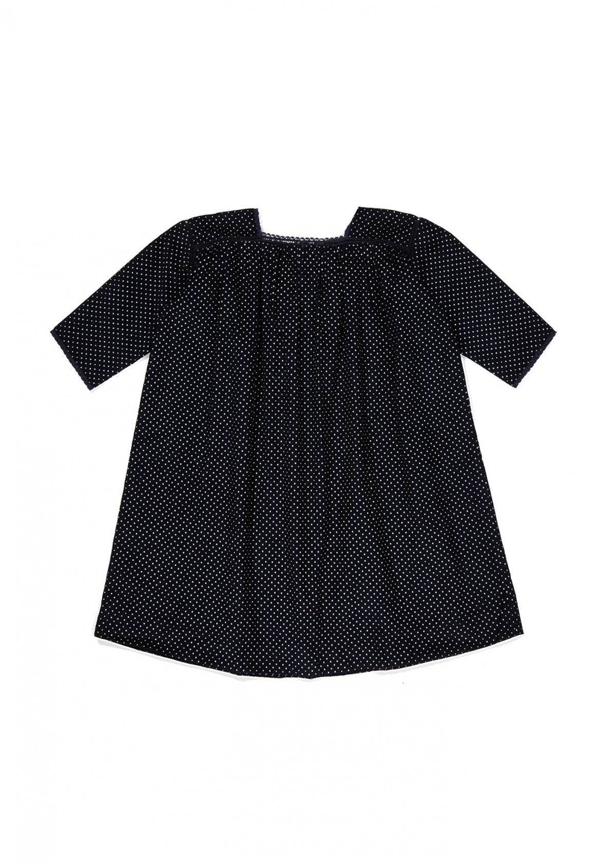 Caramel Pony Kid's Babycord Dress in Navy Dot | BIEN BIEN