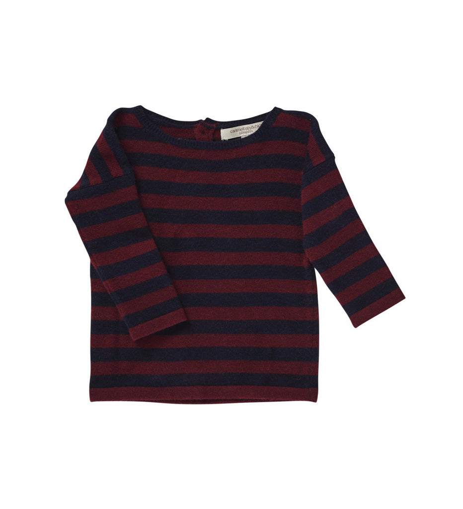 Caramel London Sunstone Baby Jumper in Jester/Navy Stripe | BIEN BIEN