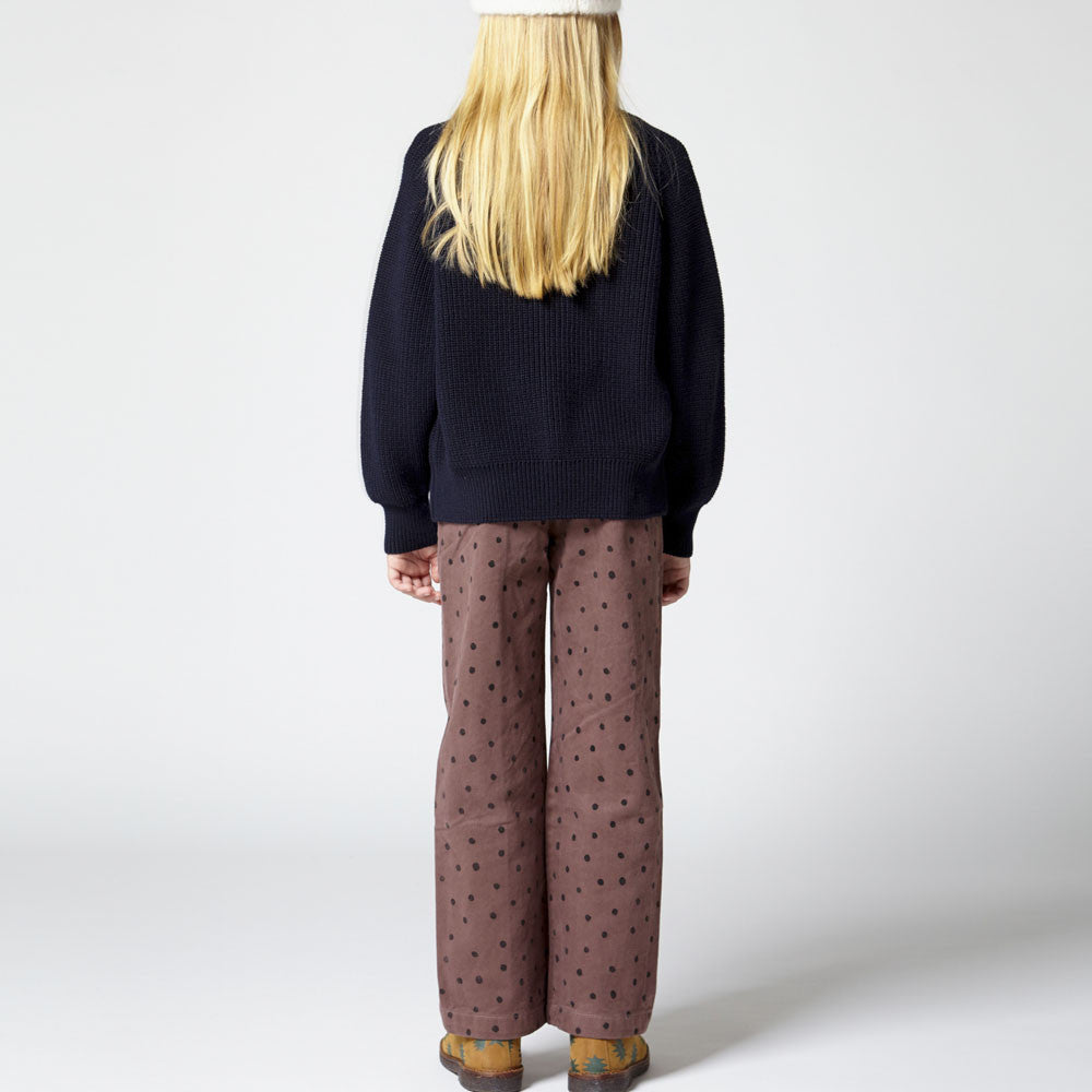 The Animals Observatory Ant Girl's Pants in Brown Dots | BIEN BIEN