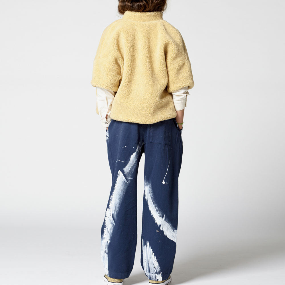 The Animals Observatory Nico Kid's Pants in Deep Blue | BIEN BIEN