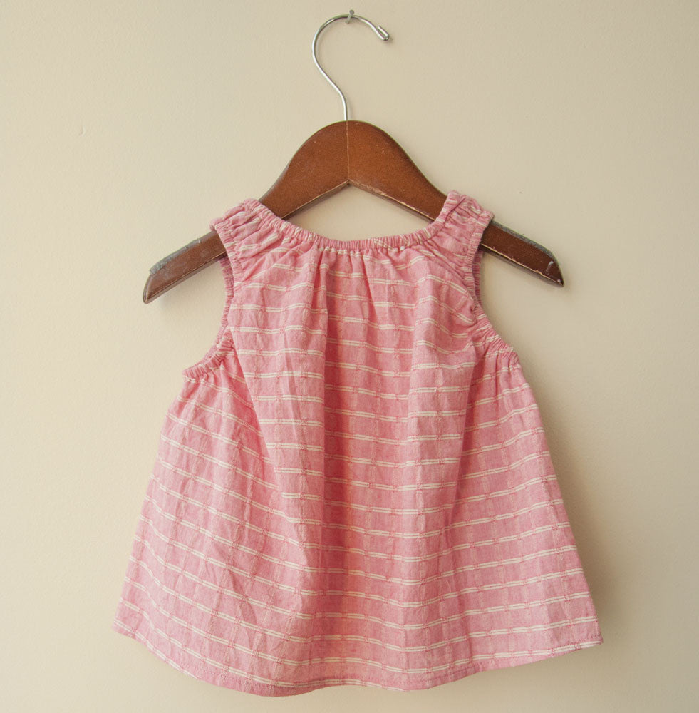 boy+girl Poppy Baby Girl Top in Pink Check | BIEN BIEN